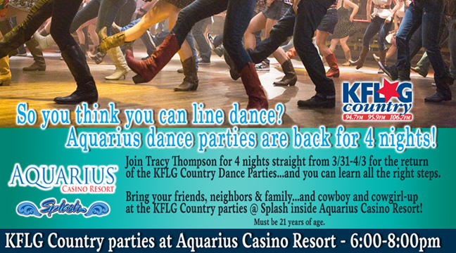 KFLG Country parties at Aquarius Casino Resort