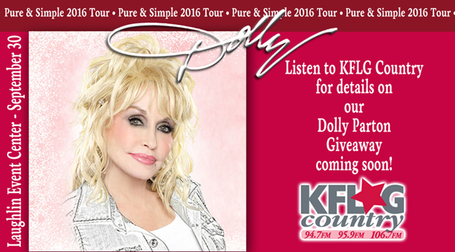 The Dolly Parton Giveaway coming soon from KFLG Country