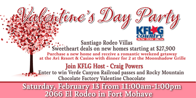 KFLG Valentine's Day Party - Santiago Rodeo Villas Sweetheart Deals